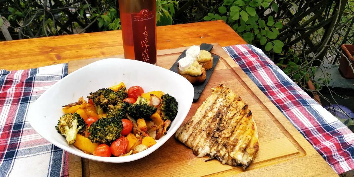 Vino e BBQ: Non le solite verdure e provoleta