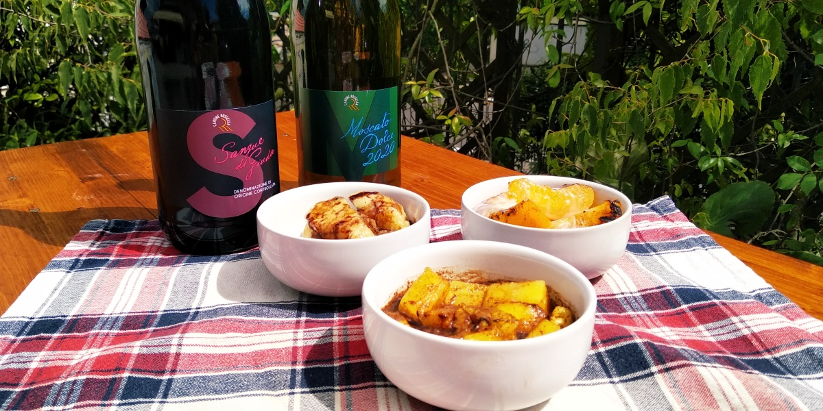 Vino e BBQ: frutta al BBQ