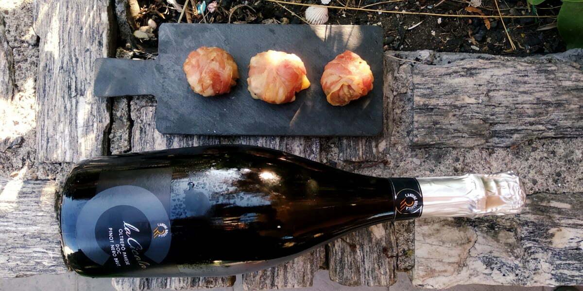 Vino e BBQ: funghi con toma e pancetta